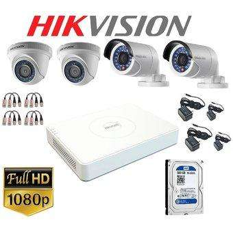 KIT DE 4 CAMARAS DE SEGURIDAD FULL HD 1080P