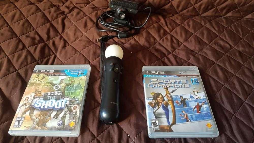 PS3 Play 3 super combo move cámara y 2 juegos