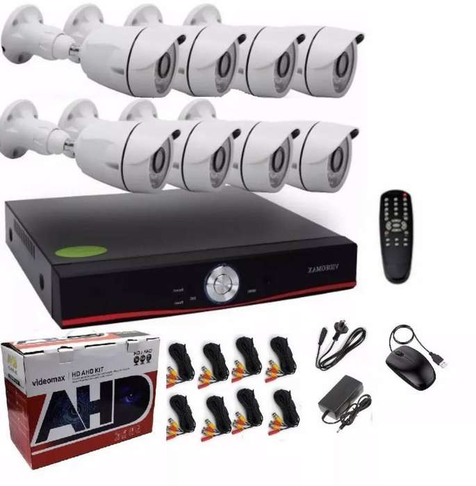 Kit de 8 Camaras Full Hd Infrarrojas