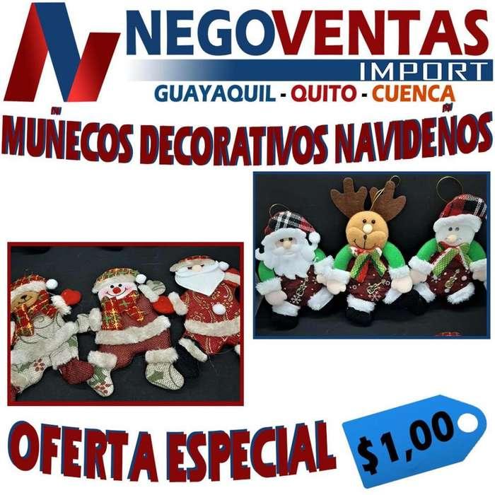 MUÑECOS DECORATIVOS NAVIDEÑOS PRECIO OFERTA 1,00