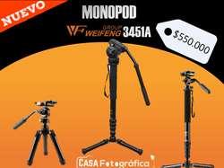 Monopodo para cámara Weifeng HJ3451A Pro Aluminio Profesional