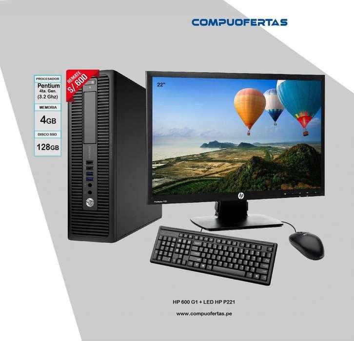 Computadora HP 600 G1 Dual Core 3.2Ghz Con Led 22