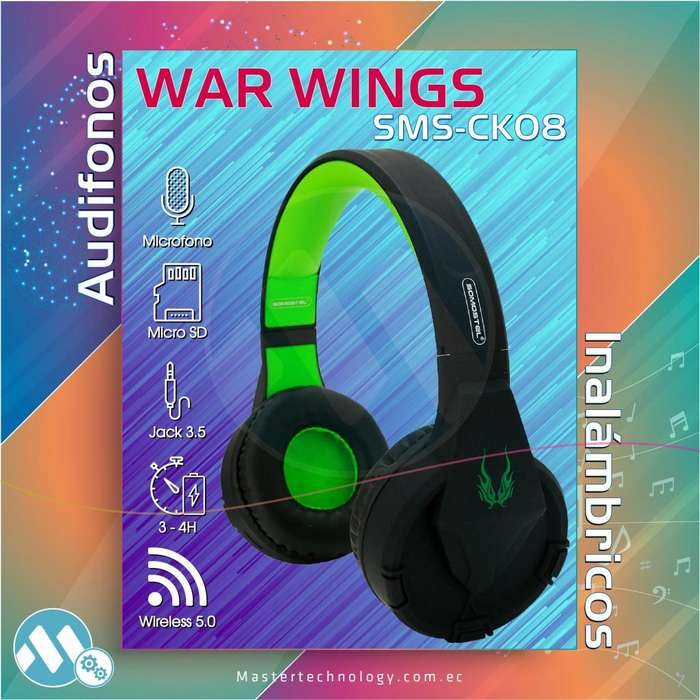 Audifonos <strong>bluetooth</strong> War Wings SMS-CK08