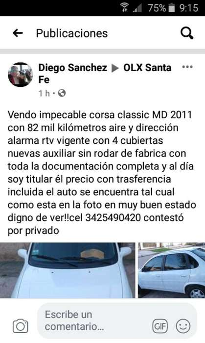 Chevrolet Classic 2011 - 824358 km