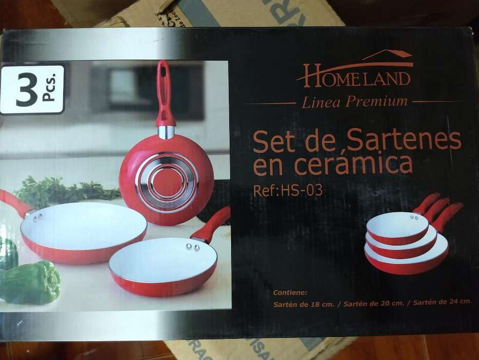 Set Sartenes Ceramicos