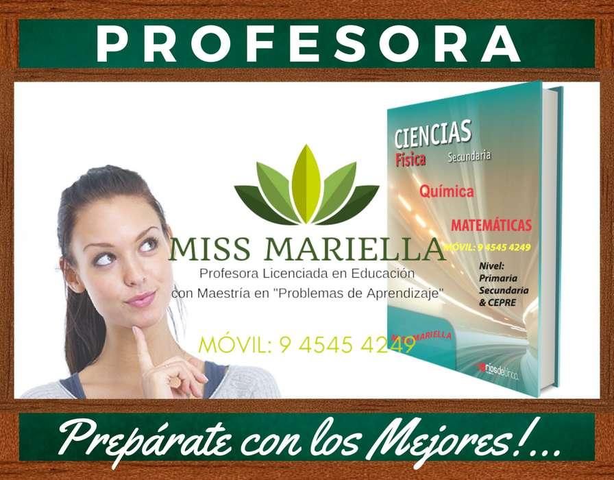PROFESOR DE MATEMÁTICA MISS MARIELLA. ESPECIALISTA EN MATEMÁTICAS Y CIENCIAS. NIVEL PRE Y ESCOLAR. MÉTODO SINGAPUR.