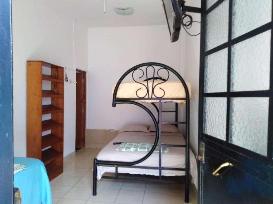 Cuartos con aire acondicionado sala cocina y patio compartidos