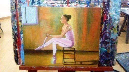 Lindo cuadro oleo sobre lienzo