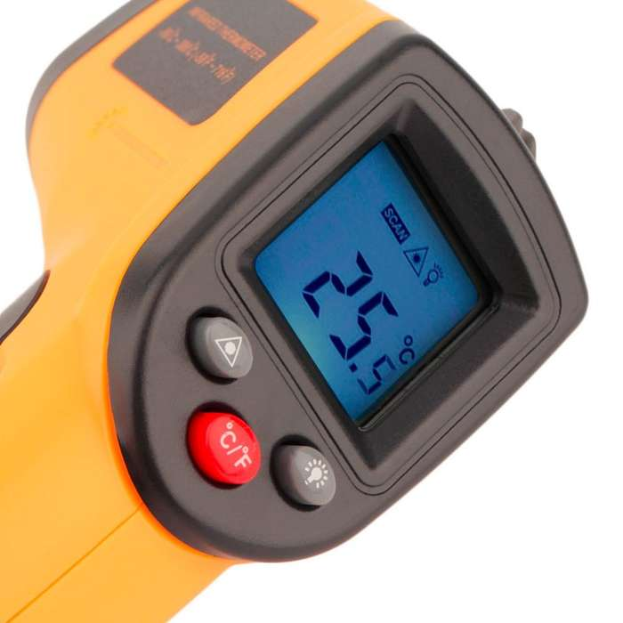 Unid Laser LCD Digital de Infrarrojos IR Termómetro Medidor de Temperatura Gun Point GM32050 330 Grados