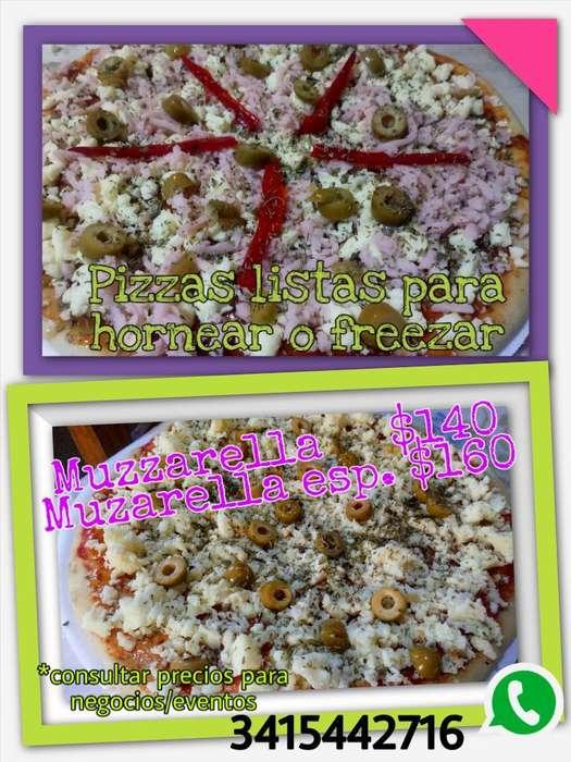 Pizzas Listas para Hornear O Freezar