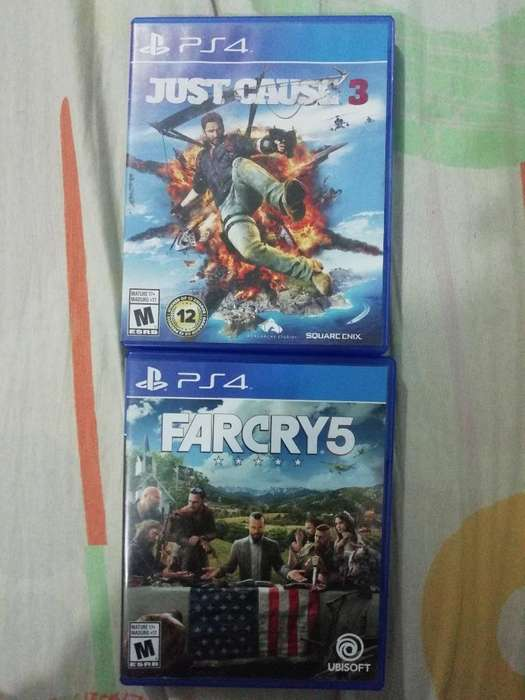 Far Cry 5 Y Just Cause 3 Pata Ps4