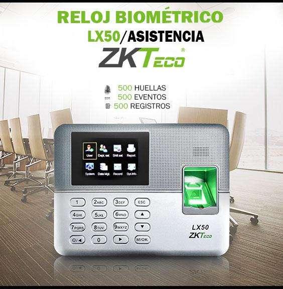 Control de asistencia lx50/zkteco biometrico de registro/reloj biometrico