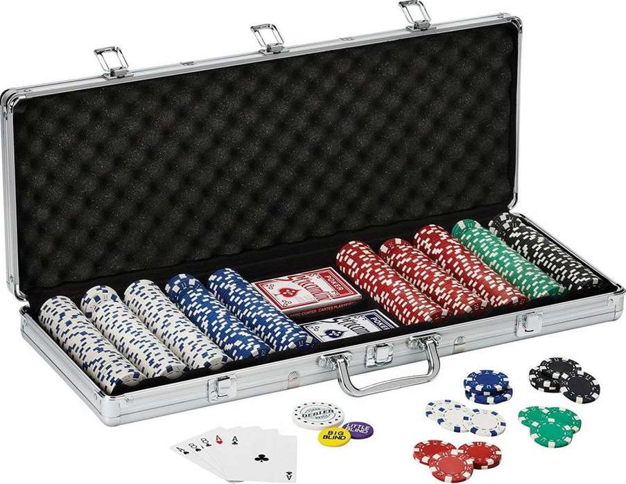 Set De Poker De 500 Ficihas Dos Barajas, Caja De Lujo