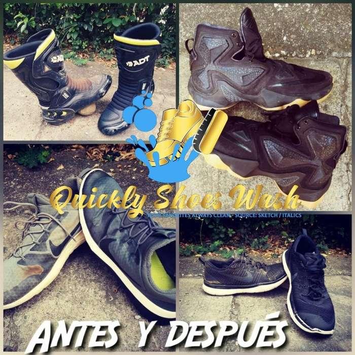 Servicio de limpieza y restauración de zapatillas