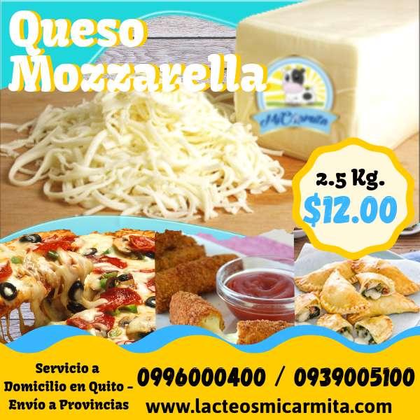 Queso pizza mozzarella 2.5kg Para negocios - Natural, Aji, Oregano, Ahumado, tipo Cheddar