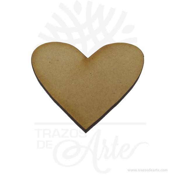 Aplique corazón de 6 x 6 cm en MDF Pack x 12 – Precio COP