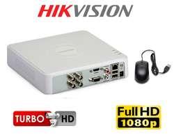 4 CAMARAS DE SEGURIDAD EN HD CON DISCO DURO 1000GB PURPURA WD HIKVISION