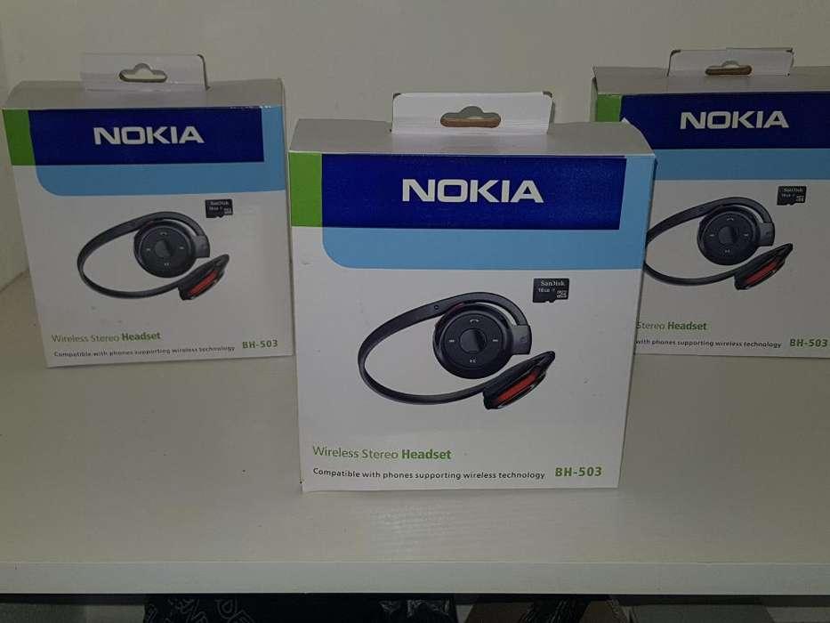 Auriculares Nokia Bluetooh Nuevos Encaja