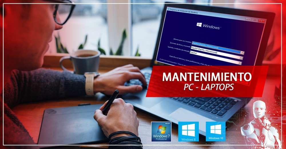 Formateo y mantenimiento PC LAPTOPS