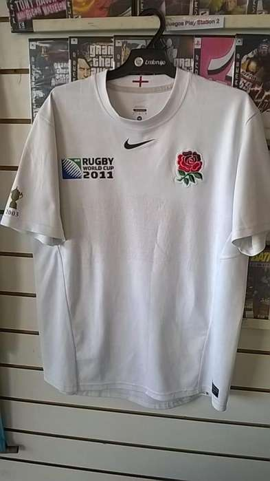 Camiseta Rugby Inglaterra 2010/2011 Worl Cup talle L