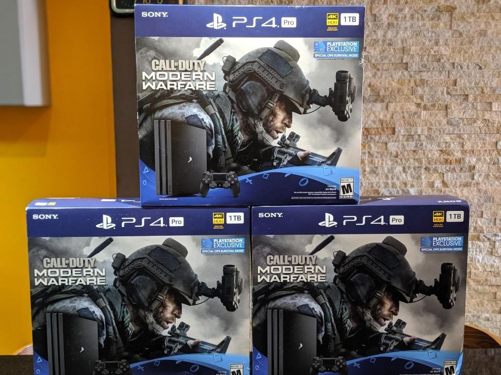 Ps4 Pro 1tb Call Of Duty Mw 2019, Nuevo.