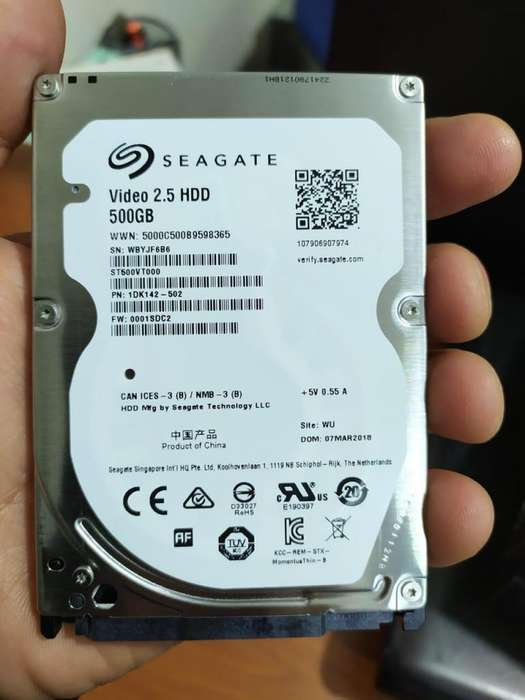 DISCO DURO DE 500 GB 0 HORAS SEGATE PARA PORTATIL VALOR 90.000 PRECIO FIJO