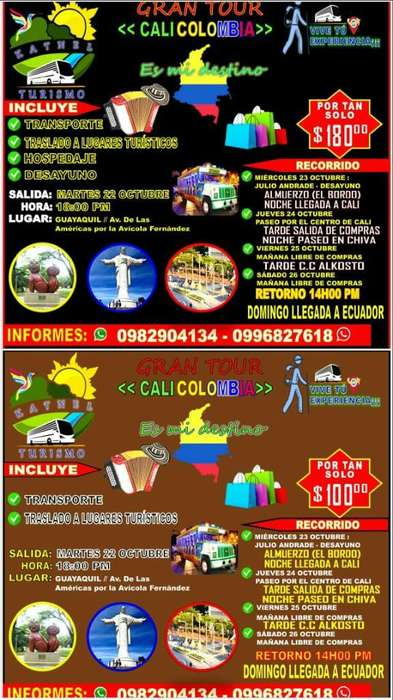Tour Cali Colombia