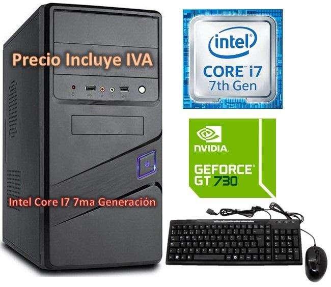 Cpu Computador Gamer Intel Core I7 3.6 7ma Gen 2tb 8gb Gt730 4gb PRECIO INCLUYE IVA ENTREGA A DOMICILIO
