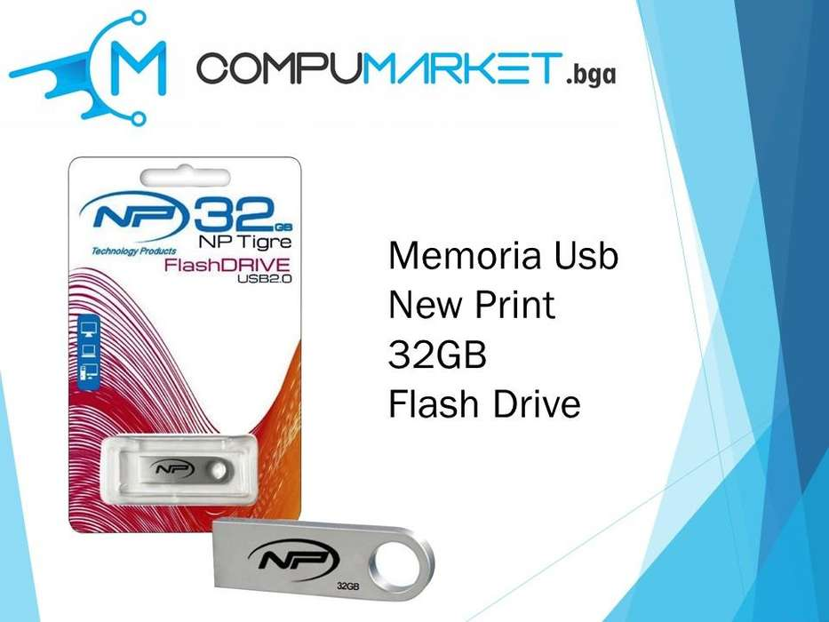 Memoria usb new print 32gb flash drive nuevo y facturado