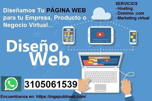 DISEÑO DE PÁGINA WEB PARA EMPRESA PRODUCTO SERVICIO.