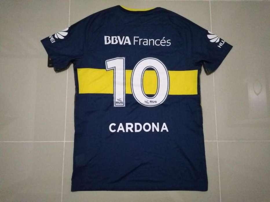 camiseta Edwin Cardona, Boca Juniors 2017/18, version Jugador