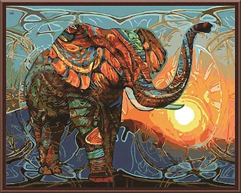 Pintura por números cuadro lienzo decoración mandala