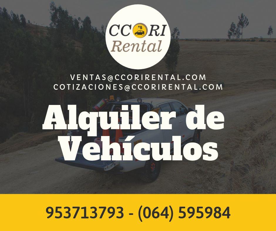 ALQUILER DE CAMIONETAS 4X4 en CERRO DE PASCO / Ccori Rental