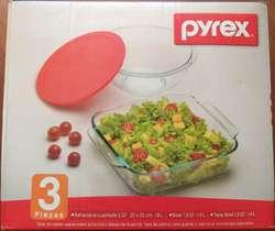 Refractaria Pyrex 3 Piezas