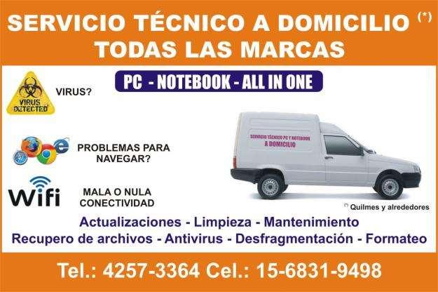 Servicio Técnico PC y Notebooks a domicilio