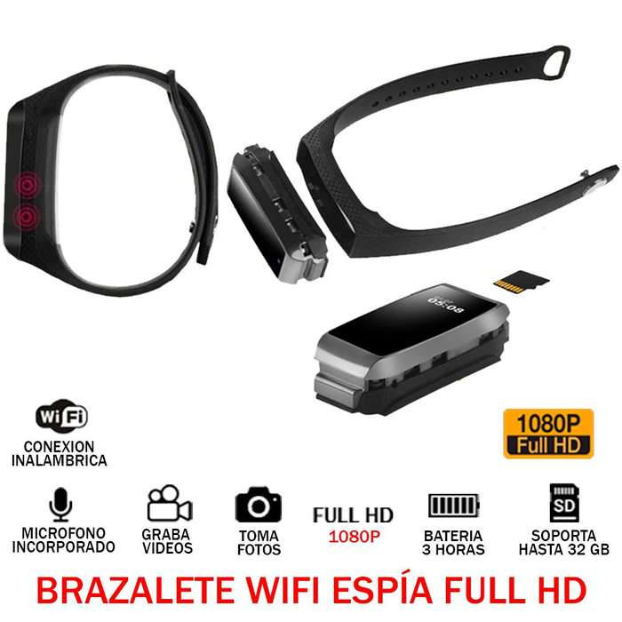 Camara Brazalete Wifi Espia Oculta Audio Video Full Hd 1080p
