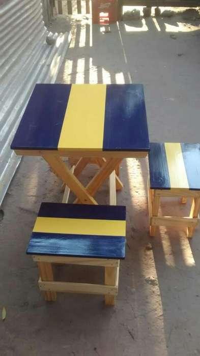 Juego de Mesas Y <strong>silla</strong>s!!! Boca Vs River