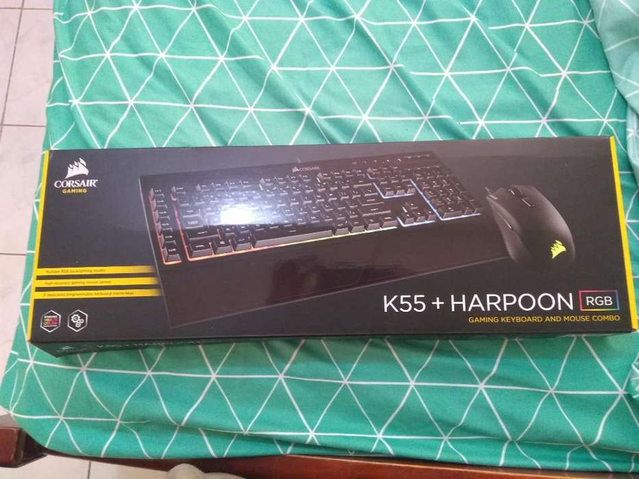Combo Corsair K55 Y Harpoon Rgb