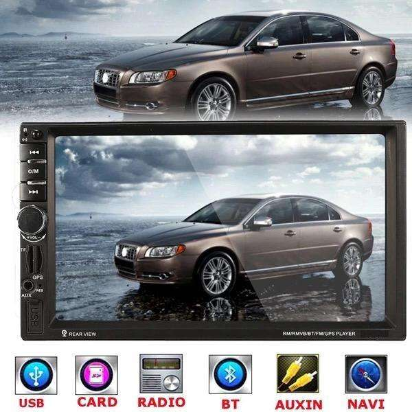 RADIO PARA CARRO PANTALLA TACTIL 7 GPS SATELITAL MIRROR LINK BLUETOOTH