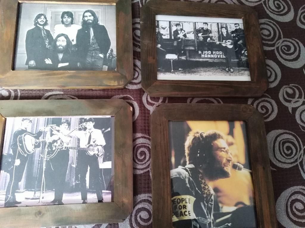 10 Fotografias Beatles Enmarcadas