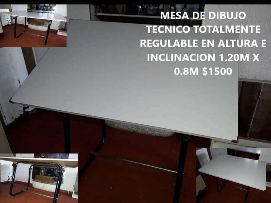 Mesa de Dibujo Tecnico Regulable