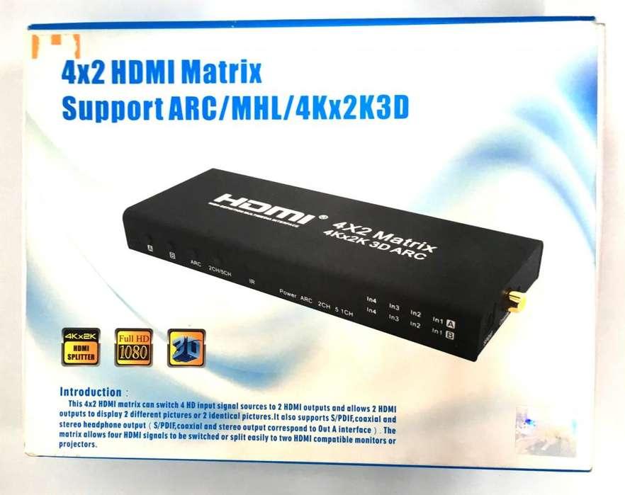 Switch, Matrix , Splitter HDMI 4 x 2