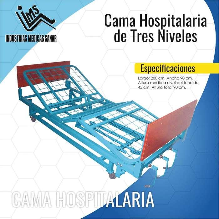 CAMA HOSPITALARIA DE 3 NIVELES. NUEVA!!