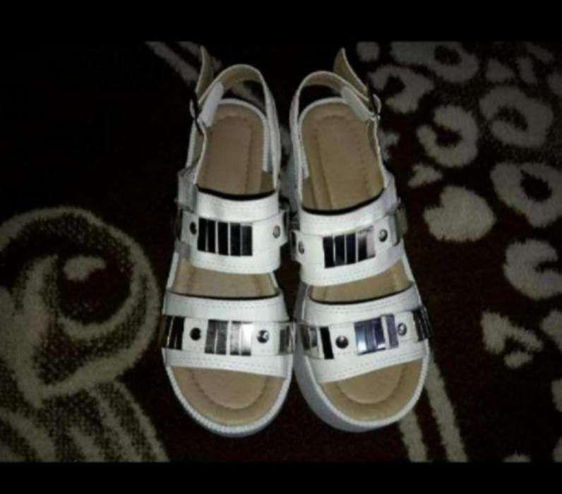 Zapatos con Tacos Altos Color Blanco N35