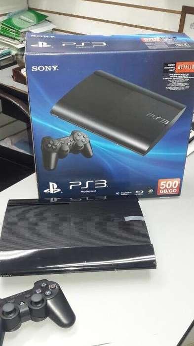 PS3 SUPER SLIM 25 JUEGOS GTA5 FiFA19 PES 18 ETC