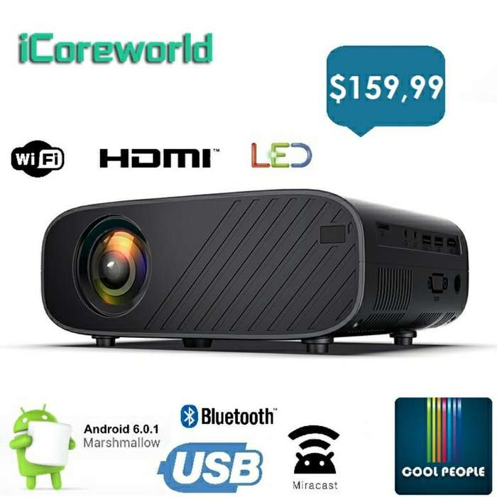 Proyector Android 6.0 2400lum Wifi Bt