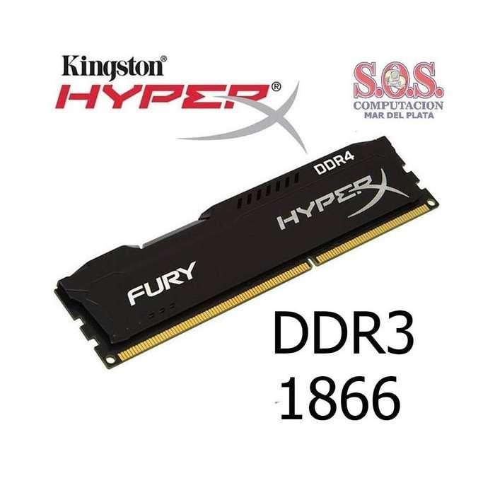 RAM DE 8 GIGAS HYPERX FURY DDR3 NEGRA