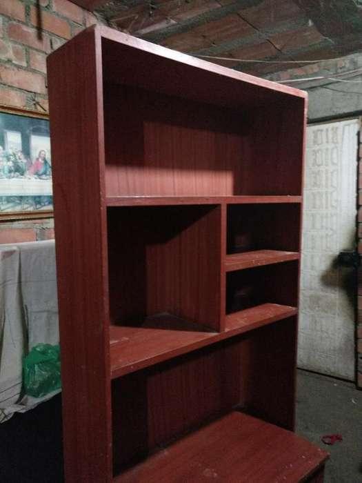 <strong>escritorio</strong> Librero Madera Color Marron