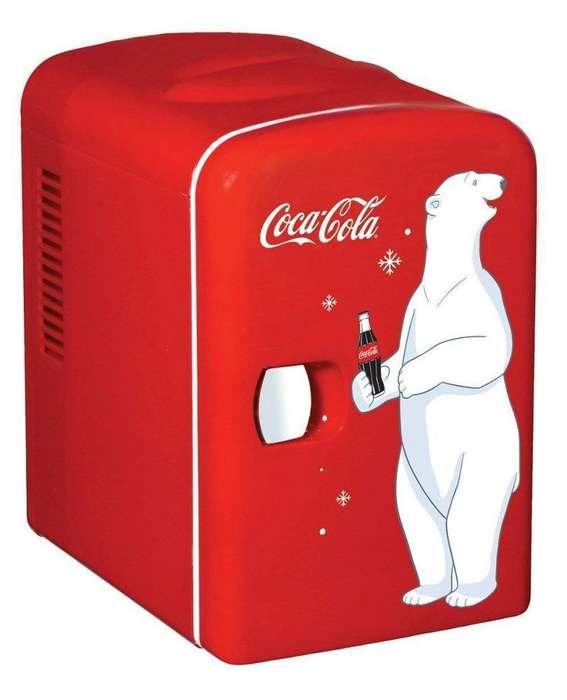 Mini Nevera Coca Cola con Diseño Oso Pol
