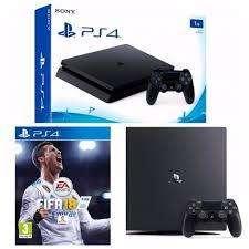 Play Station 4 1TB 2 joysticks fifa 2018 Fisico Nueva